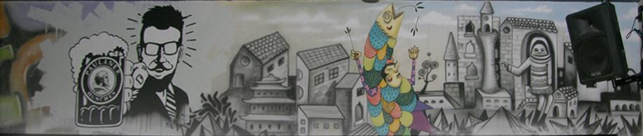 ציורי קיר בפאב